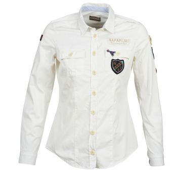Textil Mulher camisas Napapijri GLENDA Branco