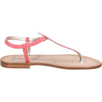 Sapatos Mulher Sandálias Eddy Daniele sandali rosa camoscio ax914 Rosa