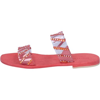 Sapatos Mulher Sandálias Eddy Daniele sandali rosso plastica swarovski aw463 Rosso