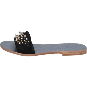 Sapatos Mulher Sandálias Eddy Daniele sandali nero camoscio borchie ax775 Nero