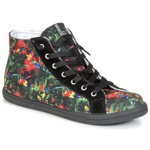 Sapatos Mulher Sapatilhas de cano-alto Love Moschino JA15132G0KJE0000 Preto / Multicolor