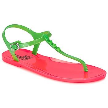 Sapatos Mulher Sandálias Love Moschino JA16381G0KJN180A Verde / Rosa