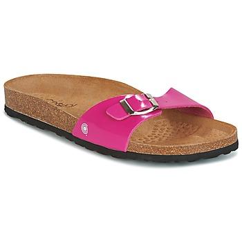 Sapatos Mulher Chinelos Casual Attitude CHASTO Fúchsia  / Carvão