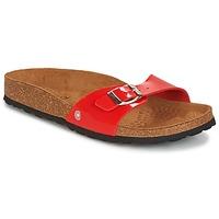Sapatos Mulher Chinelos Casual Attitude CHASTO Vermelho / Carvão