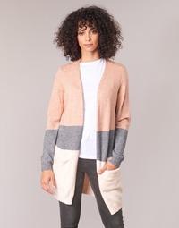 Textil Mulher Casacos de malha Only ONLQUEEN Rosa / Cinza