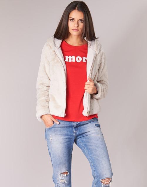 Textil Mulher Jaquetas Only ONLCHRIS Bege