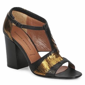 Sapatos Mulher Sandálias Sigerson Morrison STRUZZO Preto / Bronze
