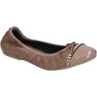 Sapatos Mulher Sabrinas Crown ballerine beige pelle BX639 Beige