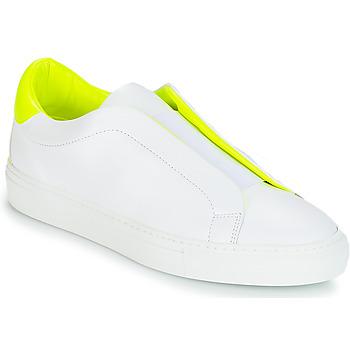 Sapatos Mulher Sapatilhas KLOM KISS Branco / Amarelo