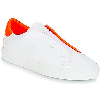 Sapatos Mulher Sapatilhas KLOM KISS Branco / Laranja