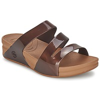 Sapatos Mulher Chinelos FitFlop SUPERJELLY™ TWIST Castanho