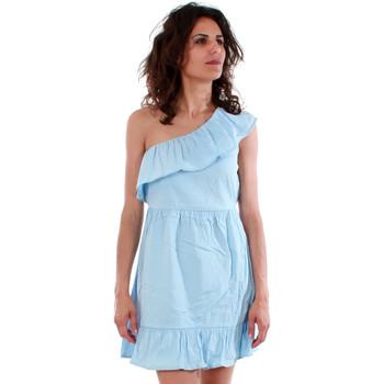 Textil Mulher Vestidos Vero Moda 10192757 VMSIA ONE SHOULDER FRILL SHORT DRESS CERULEAN Azul