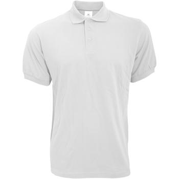Textil Homem Polos mangas curta B And C PU409 Branco