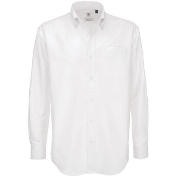 Textil Homem Camisas mangas comprida B And C SMO01 Branco