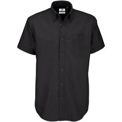 Textil Homem Camisas mangas curtas B And C SMO02 Preto