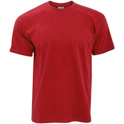 Textil Homem T-Shirt mangas curtas B And C TU004 Vermelho