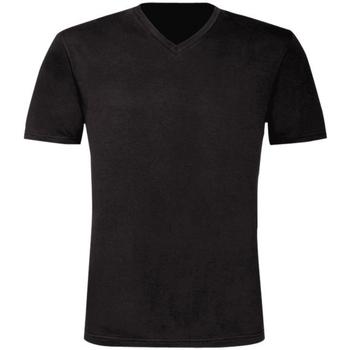 Textil Homem T-Shirt mangas curtas B And C TU006 Preto