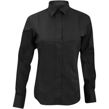 Textil Mulher camisas Kustom Kit KK388 Preto