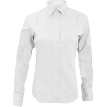 Textil Mulher camisas Kustom Kit KK388 Branco