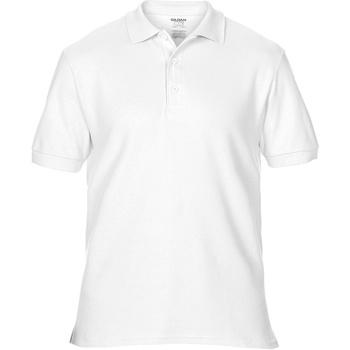 Textil Homem Polos mangas curta Gildan Premium Branco