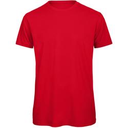 Textil Homem T-Shirt mangas curtas B And C TM042 Vermelho