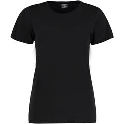 Textil Mulher T-Shirt mangas curtas Kustom Kit Superwash Preto
