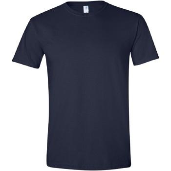 Textil Homem T-Shirt mangas curtas Gildan Soft-Style Marinha
