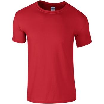 Textil Homem T-Shirt mangas curtas Gildan Soft-Style Vermelho