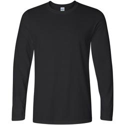 Textil Homem T-shirt mangas compridas Gildan 64400 Preto