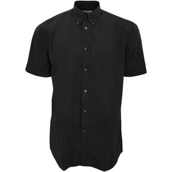 Textil Homem Camisas mangas curtas Kustom Kit KK100 Preto