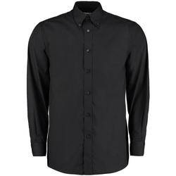 Textil Homem Camisas mangas comprida Kustom Kit KK140 Preto