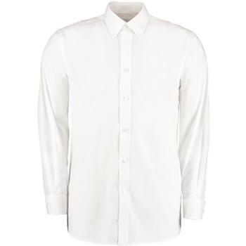 Textil Homem Camisas mangas comprida Kustom Kit KK140 Branco