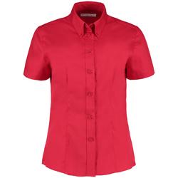 Textil Mulher camisas Kustom Kit KK701 Vermelho