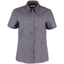 Textil Mulher camisas Kustom Kit KK701 Carvão vegetal