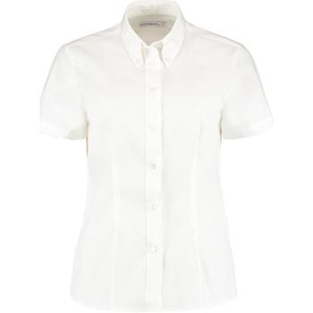 Textil Mulher camisas Kustom Kit KK701 Branco