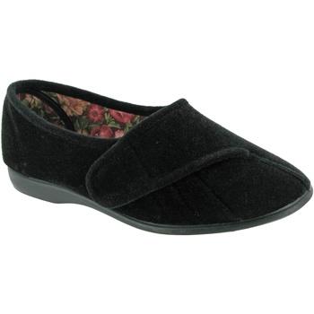 Sapatos Mulher Chinelos Gbs Audrey Velcro Preto