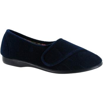 Sapatos Mulher Chinelos Gbs Audrey Velcro Marinha