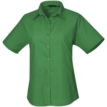 Textil Mulher camisas Premier PR302 Esmeralda