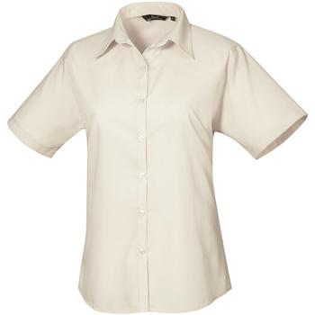 Textil Mulher camisas Premier PR302 Natural