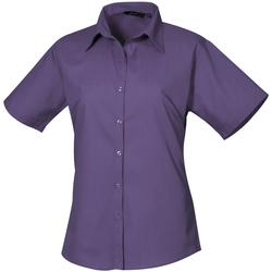 Textil Mulher camisas Premier PR302 Púrpura