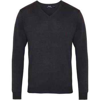 Textil Homem camisolas Premier PR694 Carvão vegetal