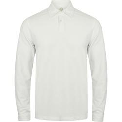 Textil Homem Polos mangas compridas Skinni Fit SFM44 Branco