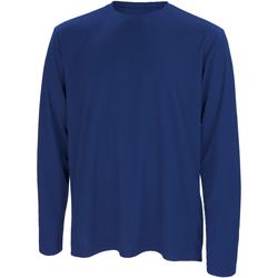 Textil Homem T-shirt mangas compridas Spiro S254M Marinha