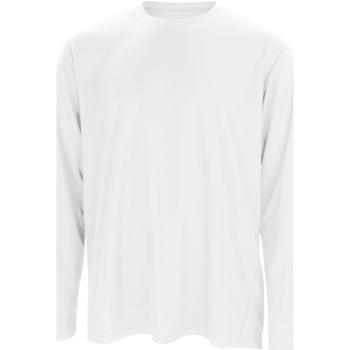Textil Homem T-shirt mangas compridas Spiro S254M Branco