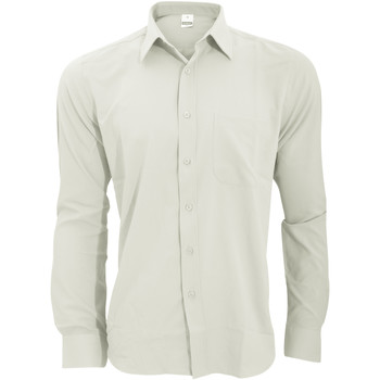 Textil Homem Camisas mangas comprida Henbury HB590 Branco