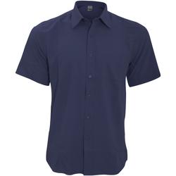 Textil Homem Camisas mangas curtas Henbury HB595 Marinha