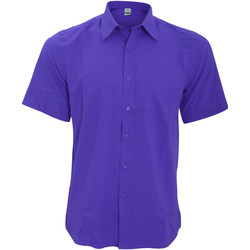 Textil Homem Camisas mangas curtas Henbury HB595 Púrpura