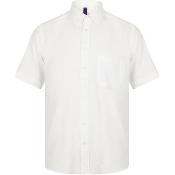 Textil Homem Camisas mangas curtas Henbury HB595 Branco