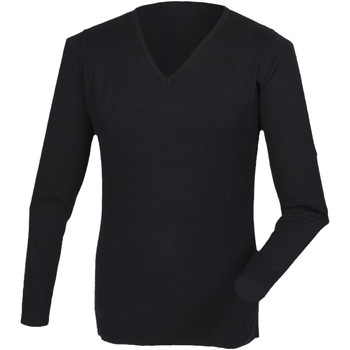 Textil Homem T-shirt mangas compridas Henbury HB760 Preto