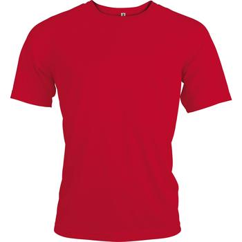 Textil Homem T-Shirt mangas curtas Kariban Proact PA438 Vermelho